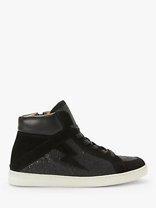AND/OR Elvie Leather High Top Trainers, Black