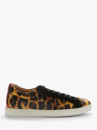 AND/OR Eddy Leather Mix Trainers, Leopard Print