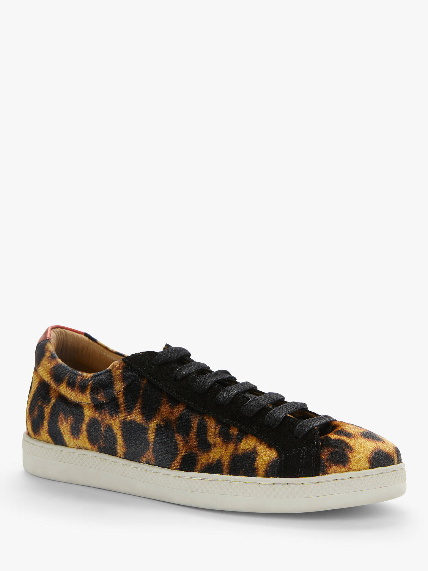 Buy AND/OR Eddy Leather Mix Trainers, Leopard Print, 3 Online at johnlewis.com