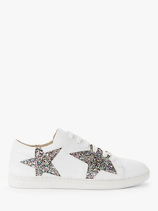 AND/OR Edie Star Trainers, White/Multi Glitter