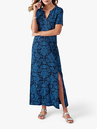 Pure Collection Jersey Maxi Dress, Blue