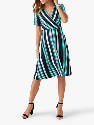 Pure Collection Jersey Wrap Dress, Turquoise