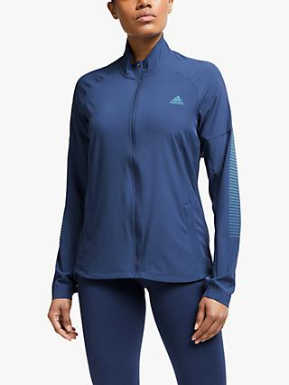 adidas Rise Up N Run Women's Running Jacket, Tech Indigo