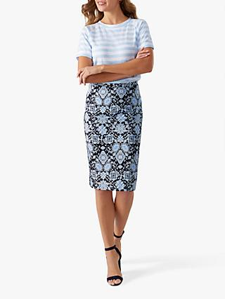 Pure Collection Pencil Skirt, Blue
