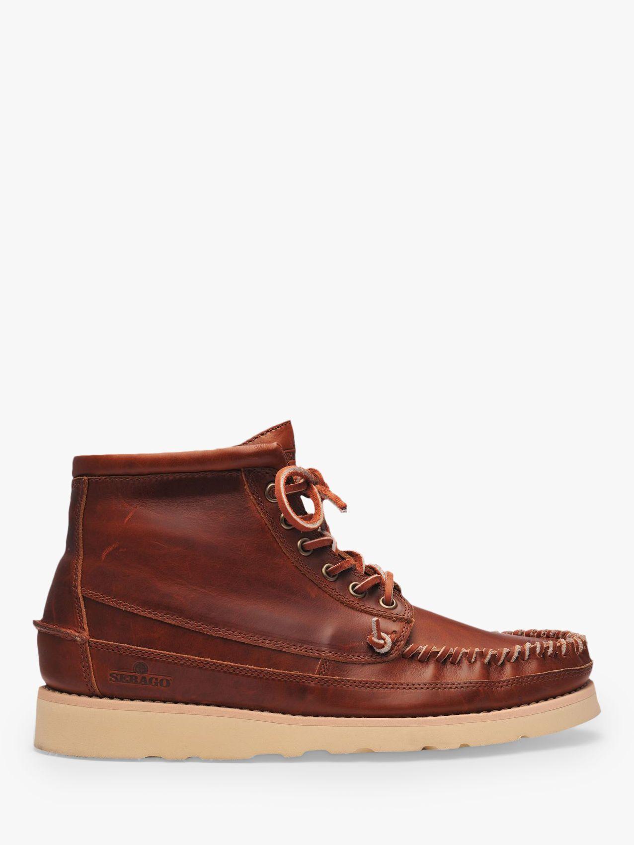 Sebago Sebago Campsides Seneca Mid Leather Moccasin Boots, Brown Cinnamon