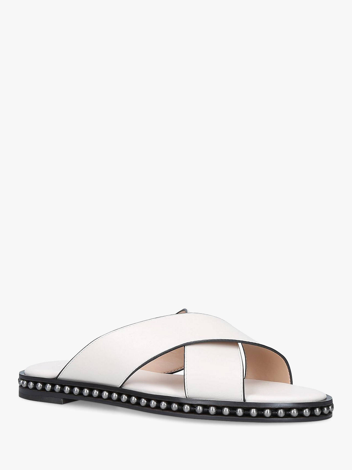Buy Coach Hayley Bead Cross Over Slider Sandals, Natural Putty, 3 Online at johnlewis.com