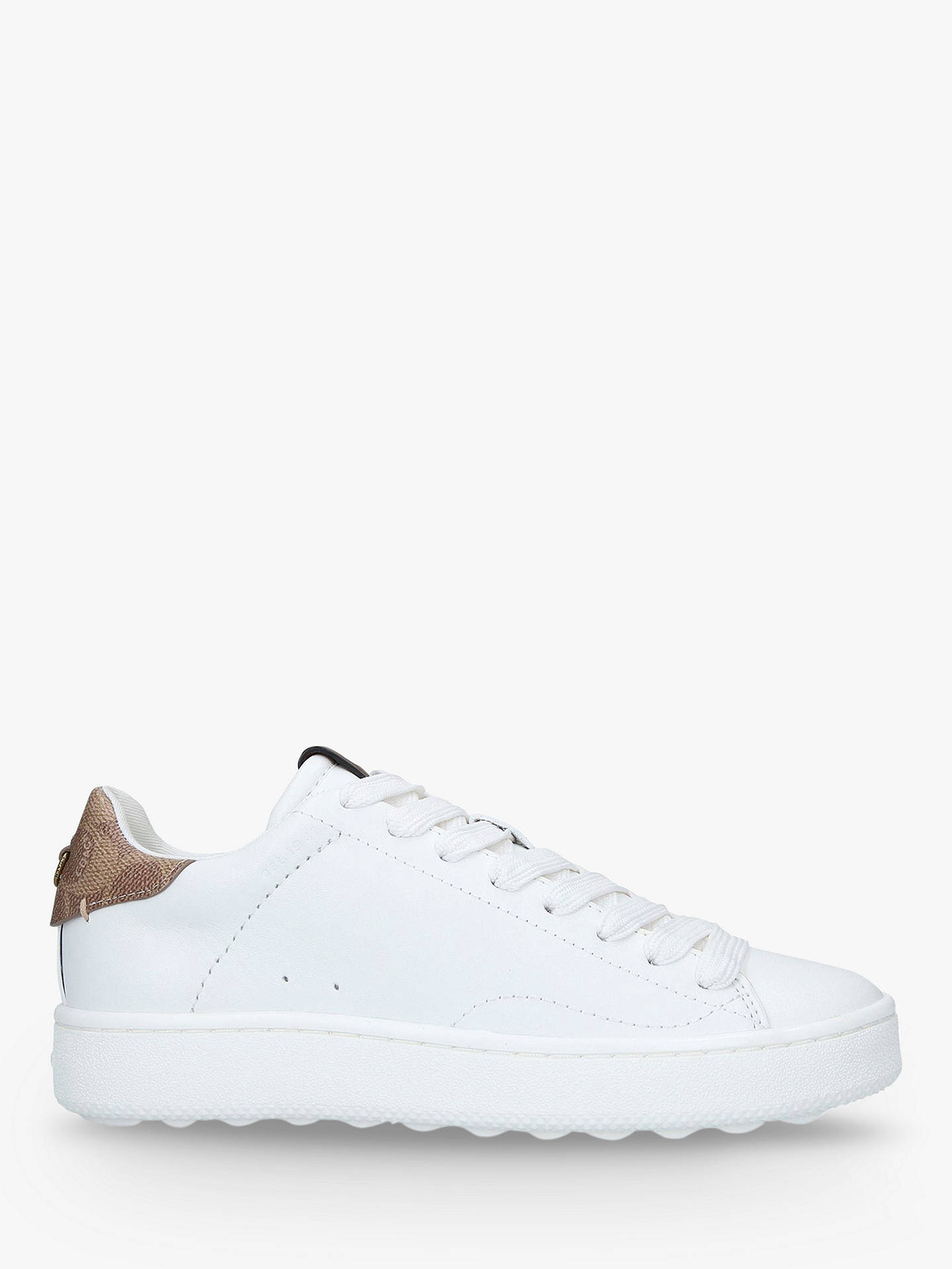 Coach C143 Low Lace Up Trainers, White by Coach