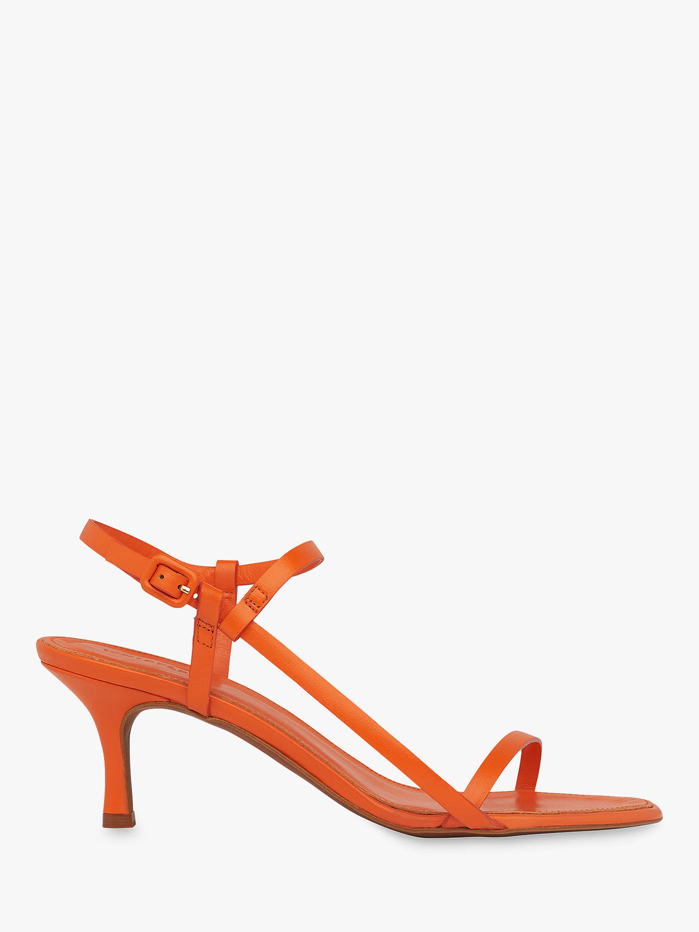 Buy Whistles Milana Leather Stiletto Sandals, Orange, 7 Online at johnlewis.com
