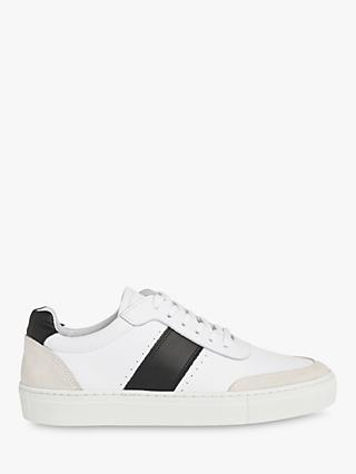 Whistles York Leather Side Stripe Trainers