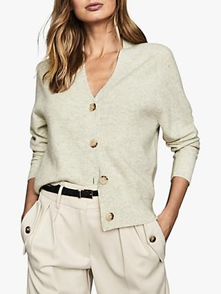 Reiss Simone Wool Cashmere Blend Cardigan