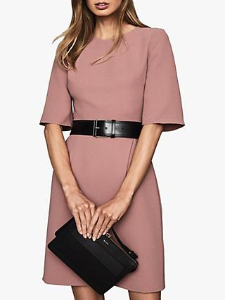 Reiss Myra Wrap Front Dress, Pink