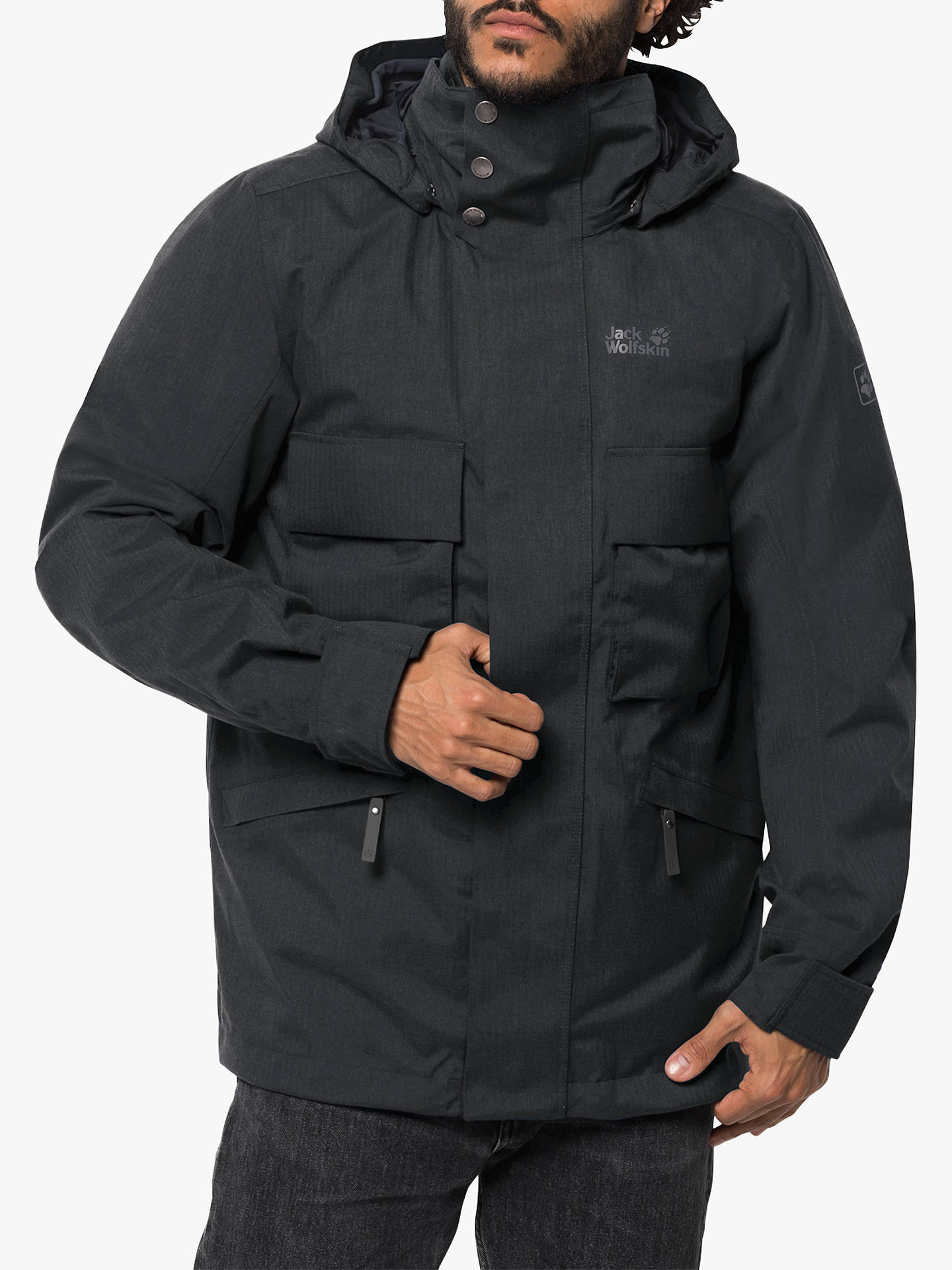 the best attitude c38c1 76630 Jack Wolfskin Takamatsu 3-in-1 Men's Waterproof Jacket, Phantom