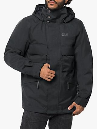 Jack Wolfskin Takamatsu 3-in-1 Men's Waterproof Jacket, Phantom