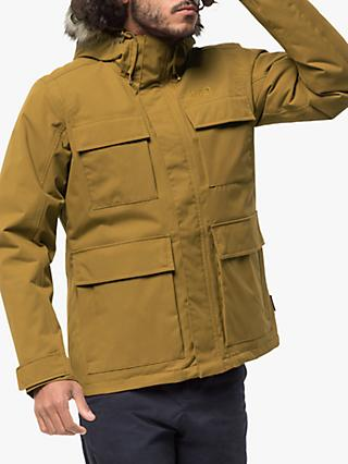 Jack Wolfskin Point Barrow Men's Waterproof Jacket, Golden Amber