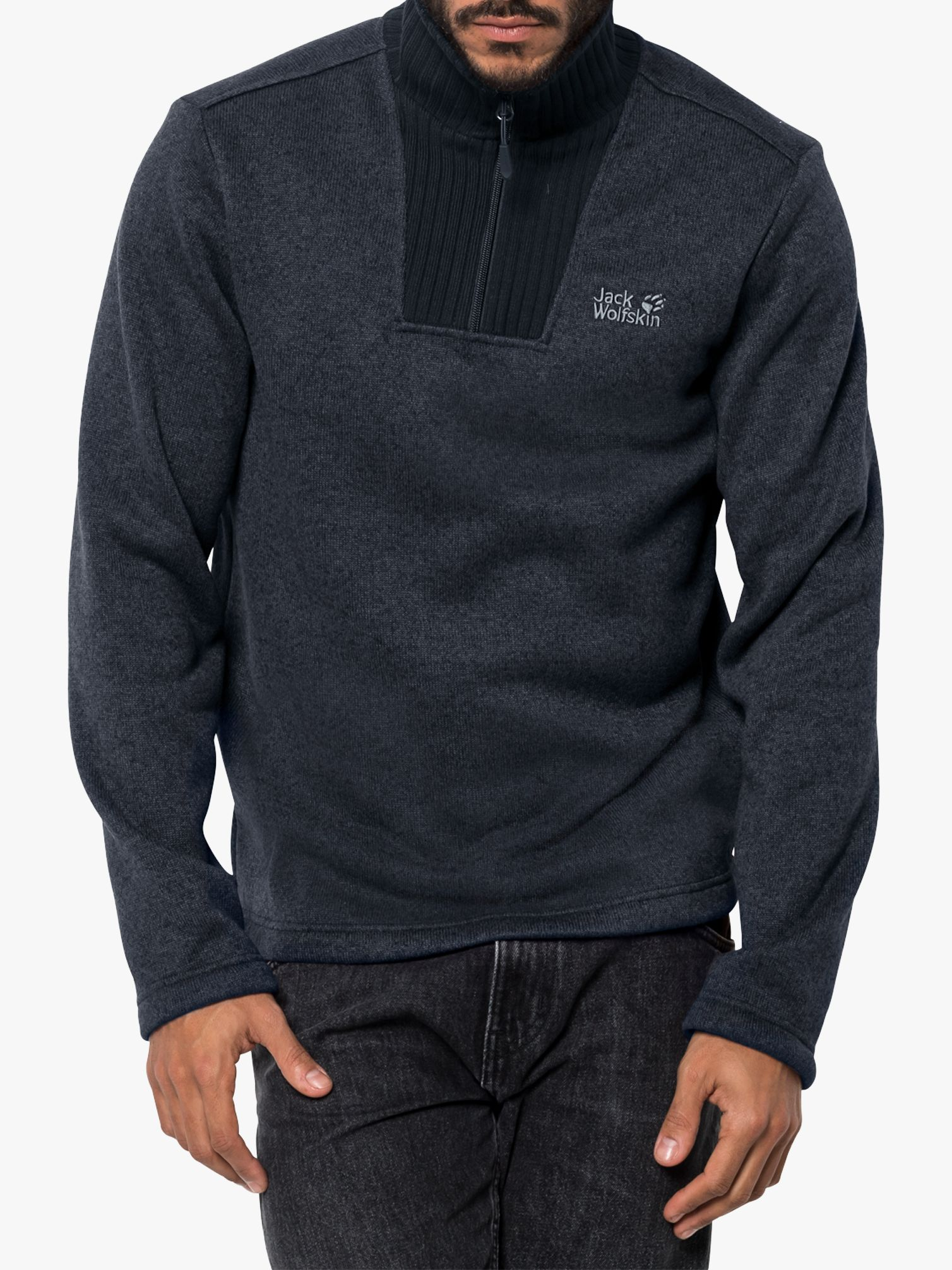 new style 0703f 07142 Jack Wolfskin Scandic Men's Fleece, Night Blue