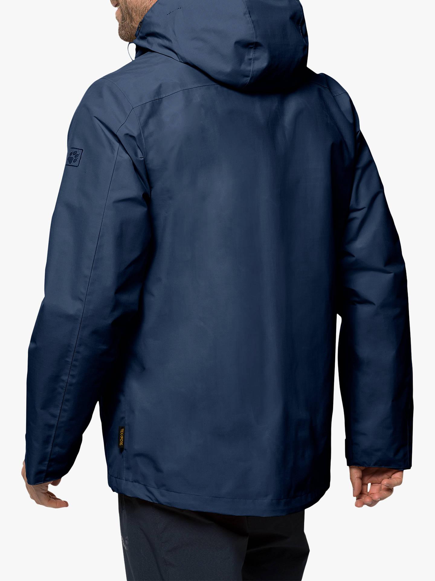 new product 9d4ad c492e Jack Wolfskin Gotland 3-in-1 Men's Waterproof Jacket, Dark Indigo