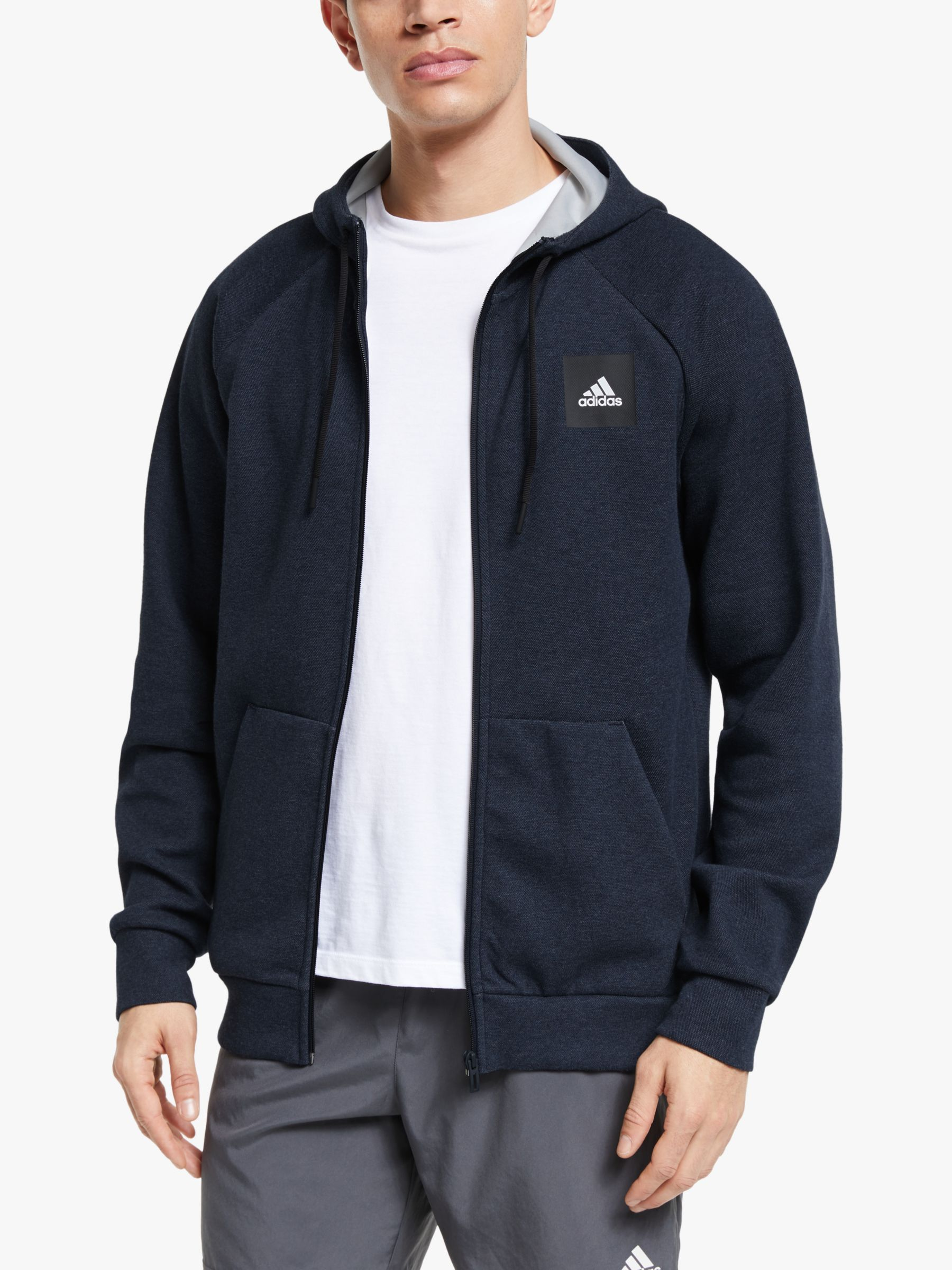 Adidas adidas Must Haves Stadium Full Zip Hoodie, Legend Ink Metallic