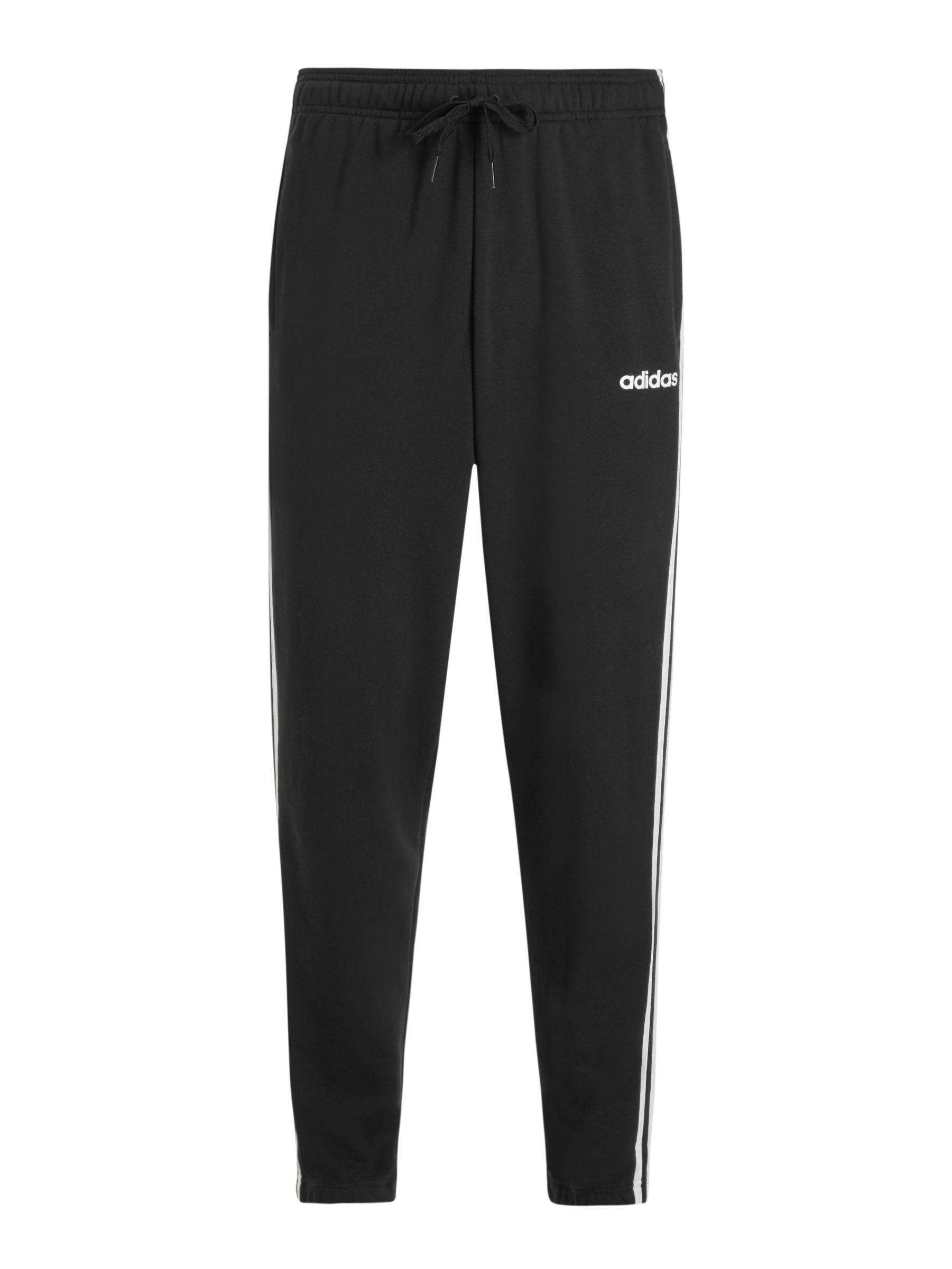 Buy adidas Essentials 3-Stripes Jogging Bottoms, Black, S Online at johnlewis.com