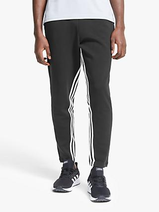 adidas Must Haves 3-Stripes Tapered Tracksuit Bottoms, Black/White