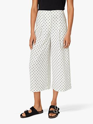 Warehouse Polka Dot Culottes, Neutral Print