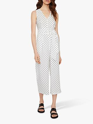 Warehouse Polka Dot Jumpsuit, Neutral Print