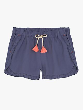 Mintie by Mint Velvet Girls' Ruffled Shorts, Light Blue