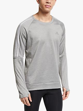 adidas Own The Run 3-Stripes Running Sweatshirt