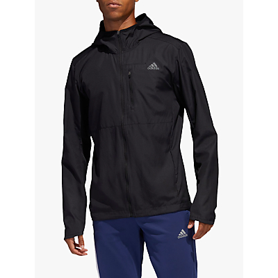 Product photo of Adidas own the run hooded wind men s running jacket black