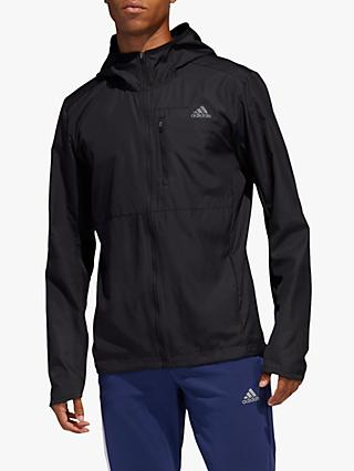 adidas Own The Run Hooded Wind Men's Running Jacket, Black