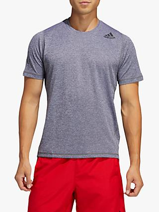 adidas FreeLift Short Sleeve Training Top, Grey Six Melange