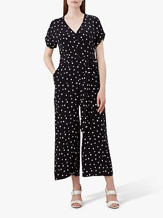 Hobbs Macen Polka Dot Jumpsuit, Navy