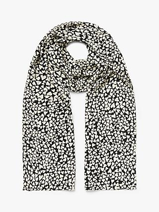 Masai Copenhagen Long Printed Scarf, Black/Multi