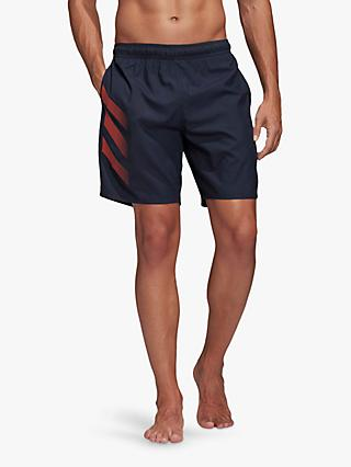 adidas Bold 3-Stripes CLX Swim Shorts