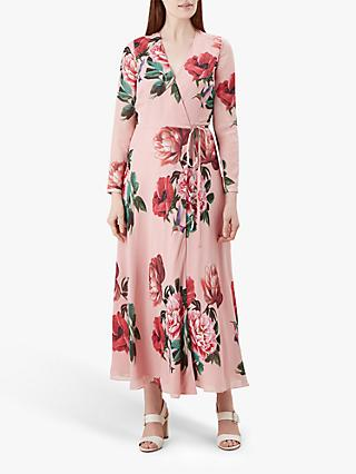Hobbs Emery Floral Dress, Pink/Multi