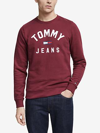 Tommy Jeans Essentials Logo Sweatshirt, Burgundy