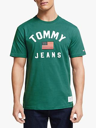 Tommy Jeans Logo Crew Neck T-Shirt, Deep Atlantic