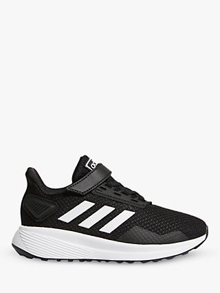 adidas Children's Duramo 9 Riptape Running Shoes, Core Black/FTWR White