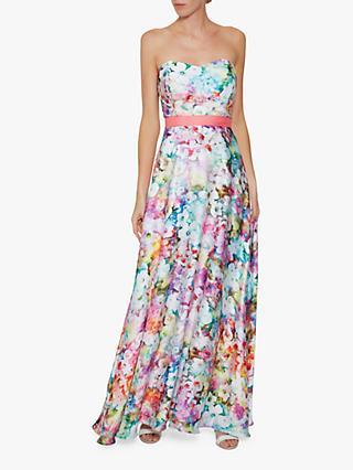 14b0502686a53 Gina Bacconi Esmira Satin Floral Maxi Dress, Multi