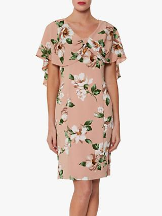 Gina Bacconi Leyna Floral Dress, Blush