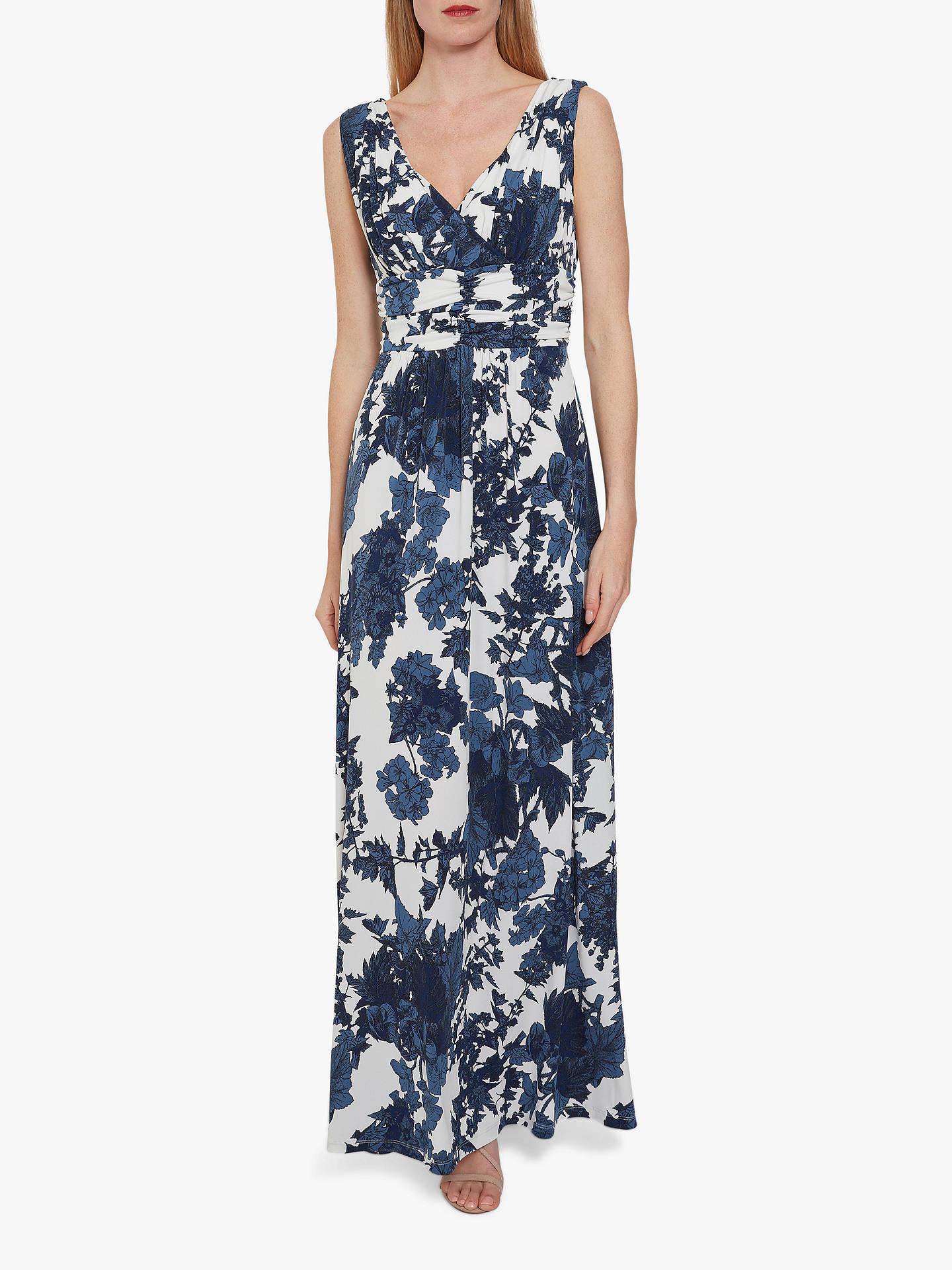 b786350e21e35 Gina Bacconi Maliana Floral Print Jersey Maxi Dress, Navy