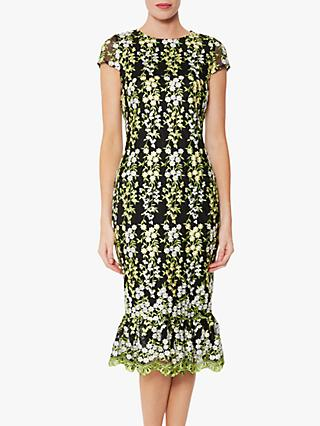 Gina Bacconi Beretta Embroidered Dress, Multi