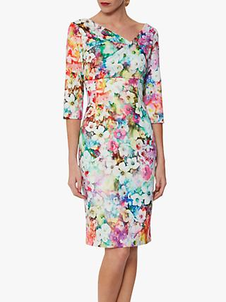 Gina Bacconi Muriella Floral Scuba Dress, Multi