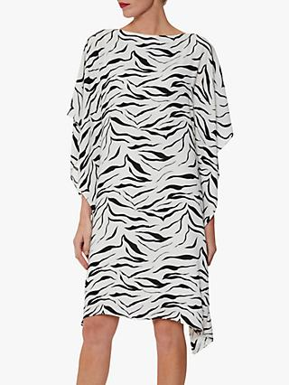 Gina Bacconi Zebra Dress, White/Black