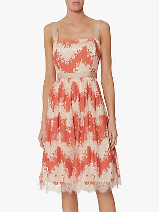 Gina Bacconi Raina Lace Dress, Orange
