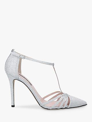 SJP by Sarah Jessica Parker Carrie 100 Stiletto Heel Court Shoes, Silver