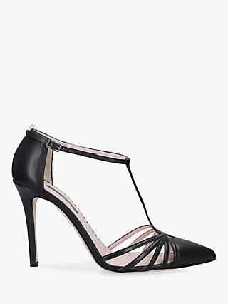 SJP by Sarah Jessica Parker Carrie 100 Stiletto Heel Leather Court Shoes, Black