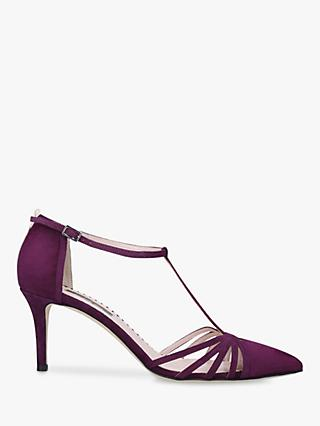 SJP by Sarah Jessica Parker Carrie 70 Stiletto Heel Suede Court Shoes, Purple