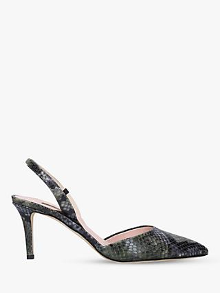 SJP by Sarah Jessica Parker Bliss Sling Back Leather Court Shoes, Green/Multi
