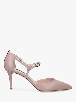 SJP by Sarah Jessica Phoebe Leather Stiletto Heel Court Shoes, Natural Nude