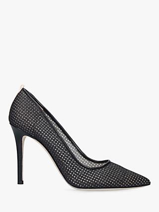 SJP by Sarah Jessica Parker Fawn 100 Fishnet Stiletto Heel Court Shoes, Black